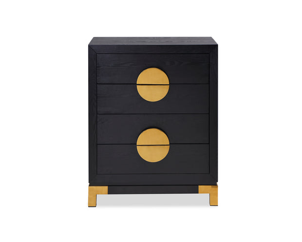 Liang & Eimil Otium Chest of Drawers Black Ash Brass Handle