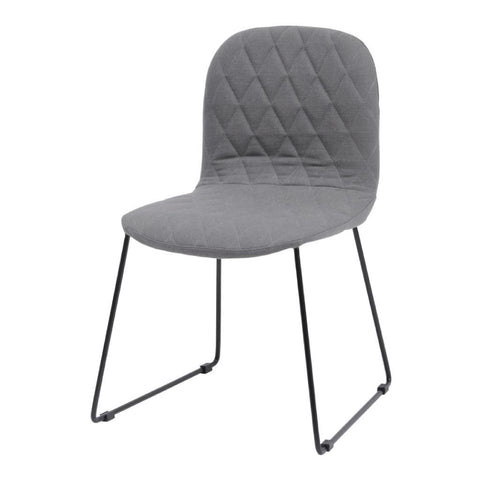 Libra Clifton Grey Quilted Dining Chair