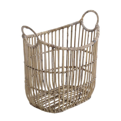 Libra Toba Rattan Basket With Handles