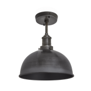 Brooklyn Dome Flush Mount - 8 Inch - Pewter-Industville-Olivia's