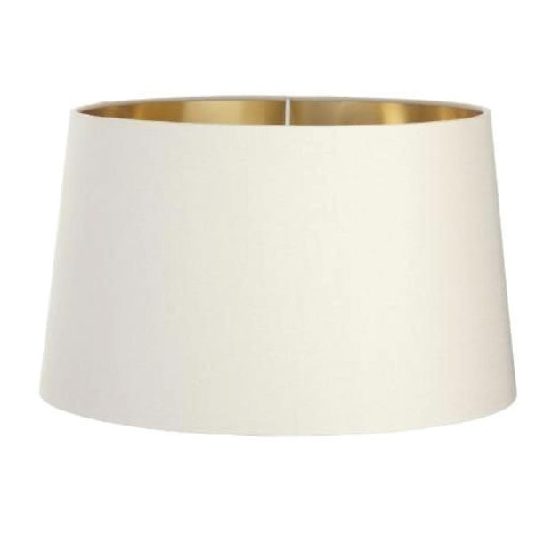 RV Astley Soft Latte Shade With Gold Lining 40cm-RVAstley-Olivia's