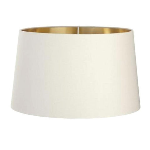 RV Astley Soft Latte Shade With Gold Lining 40cm