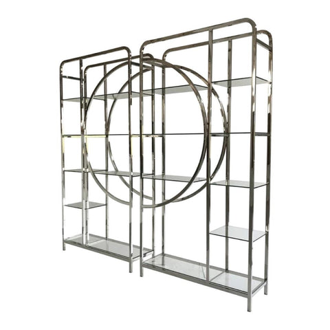 Libra Set of 2 Decadence Gatsby Stainless Steel  Shelving Unit