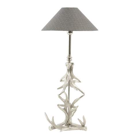 Libra Nickel Antler Table Lamp