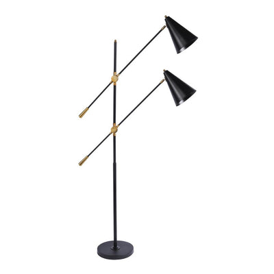 Libra Mercer Twin Head Floor Lamp