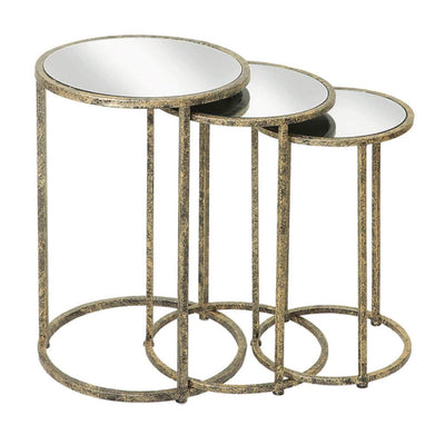 Mindy Brownes Mirror Top Nest of Tables - Set of 3-MindyBrown-Olivia's