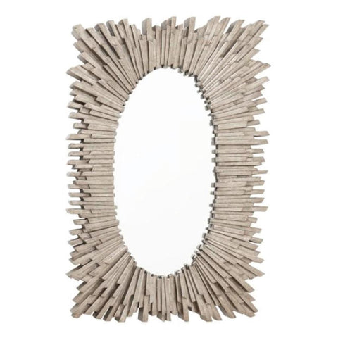 RV Astley Aledo, Antique Silver Leaf Finish Rectangular Mirror