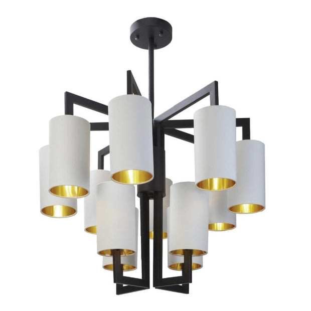 RV Astley Chandelier With Opal Shades-RVAstley-Olivia's