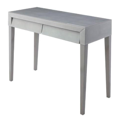 RV Astley Colby Soft Grey Shagreen Console Table-RVAstley-Olivia's