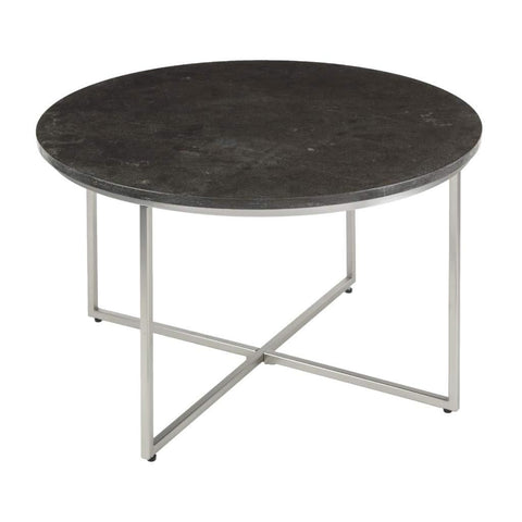 Daire nickel and black marble coffee table