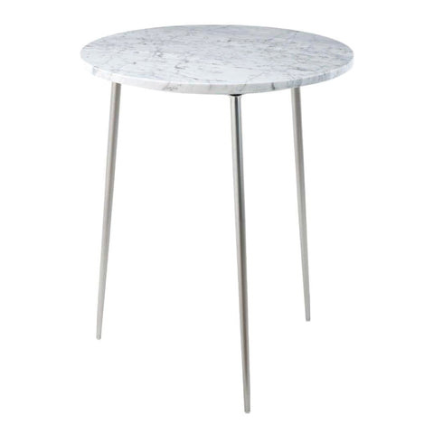 RV Astley Dervla Nickel & Marble Side Table