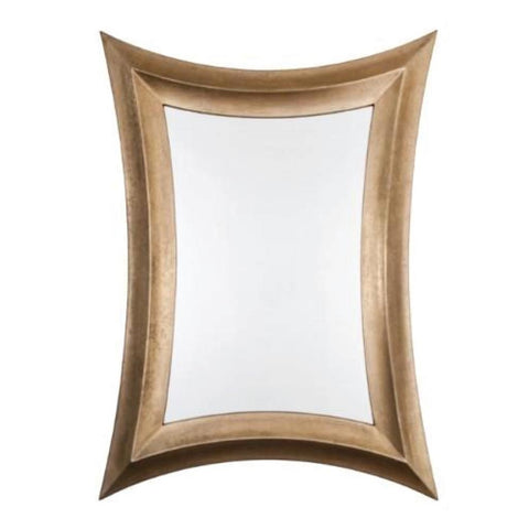 RV Astley Distressed Bronze Leaf Finish Coco Mirror