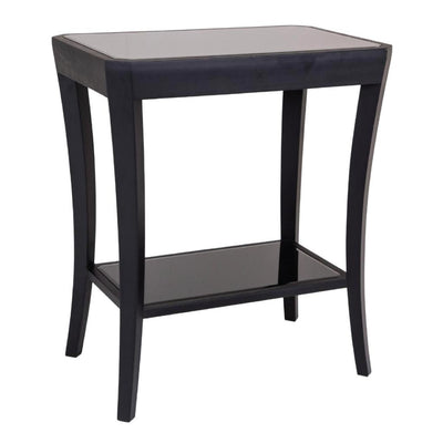 RV Astley Hyde Side Table with Black Glass-RVAstley-Olivia's