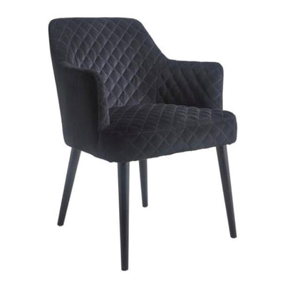 RV Astley Kirk Black Velvet Chair-RVAstley-Olivia's
