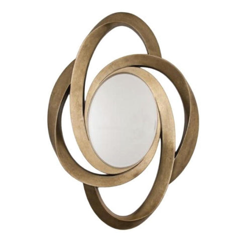 RV Astley Lazio, Distressed Gold Leaf Finish Mirror