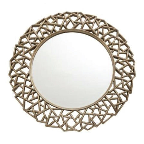 RV Astley Quin Distressed Gold Leaf Mirror