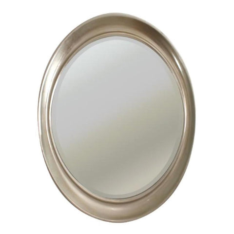 Vance, silver leaf finish oval Mirror