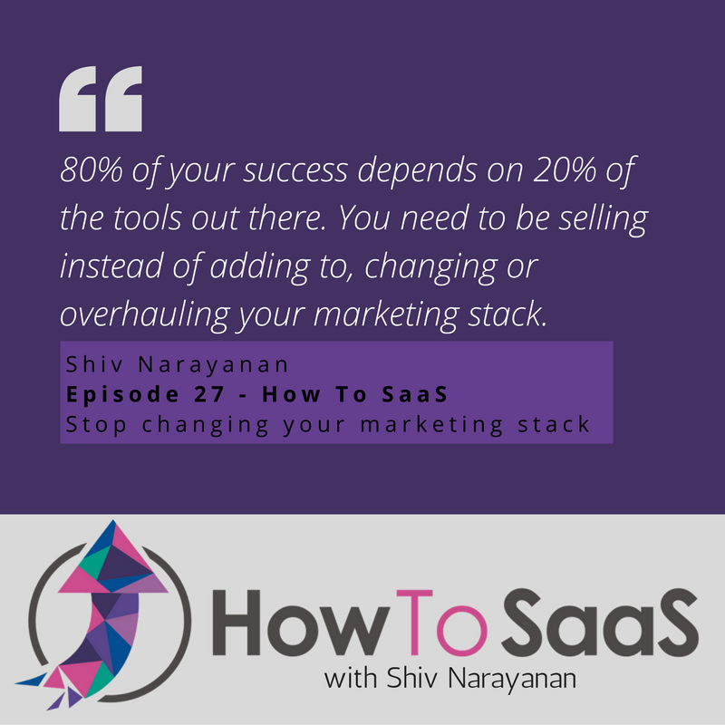 Episode 27: Stop Changing Your Marketing Stack