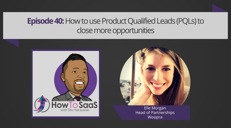 Episode 40: How to use Product Qualified Leads (PQLs) to close more opportunities with Elle Morgan, VP of Marketing at Woopra