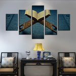 Islamic Canvas Wall Art Open Quran