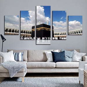 Islamic Canvas Wall Art Painting Mecca