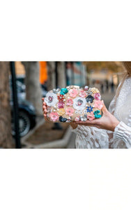 Colorful Flowers Clutch