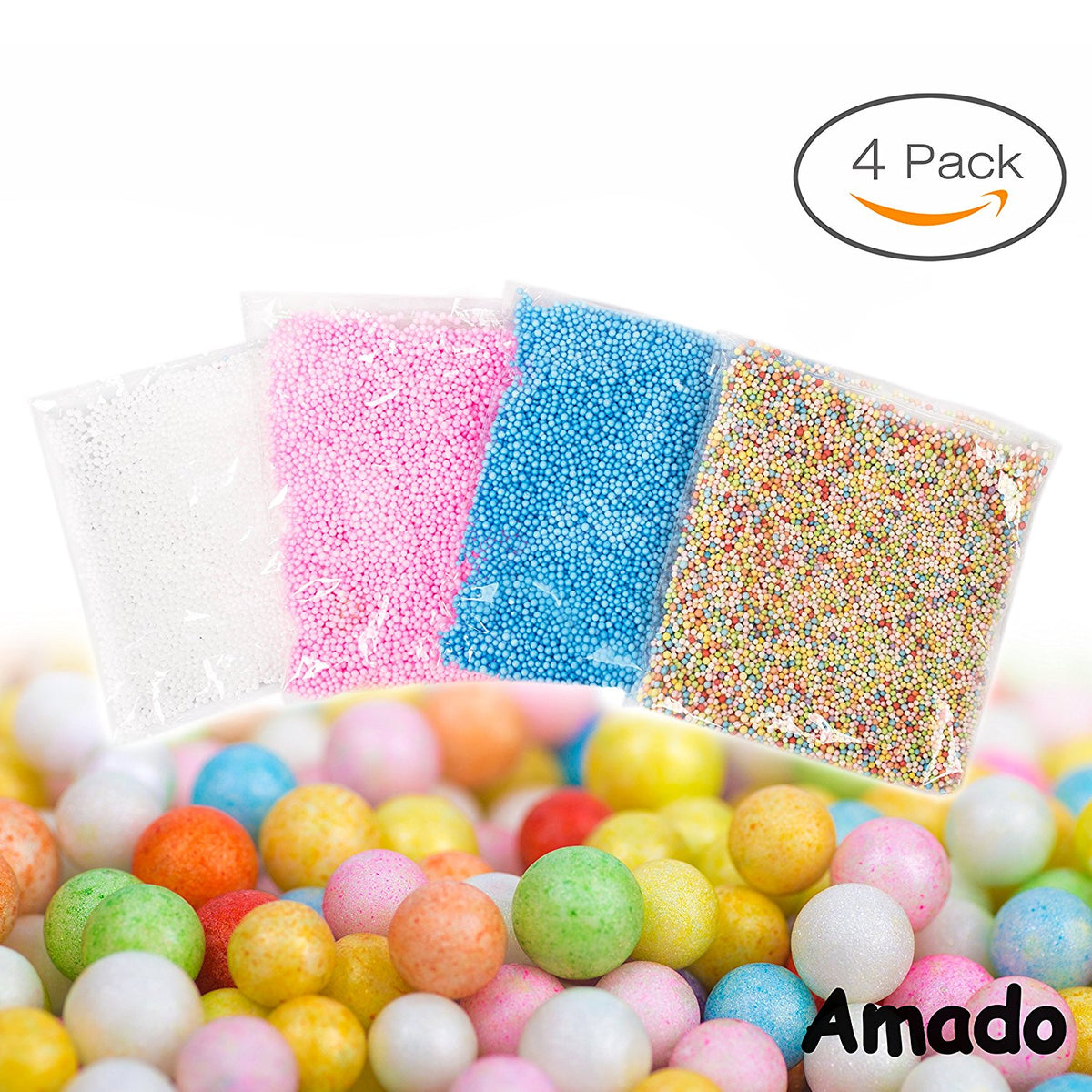 Styrofoam Coloured Balls Beads Bubbles Spheres Make Your Own Slime Making Crafts