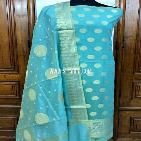 Banarasi Dress Material-Cotton Silk(3pcs)-Sitarini-SITBCSDM149