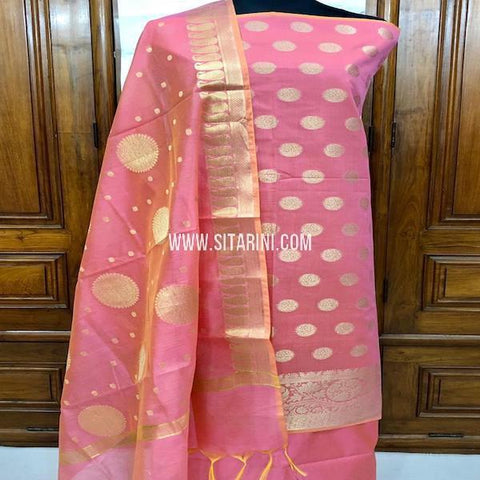 Banarasi Dress Material-Cotton Silk(3pcs)-Sitarini-SITBCSDM150