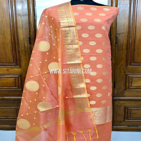Banarasi Dress Material-Cotton Silk(3pcs)-Sitarini-SITBCSDM152