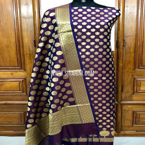 Banarasi Silk Cotton Dress Material(3pcs)-Sitarini-SITBCSDM128