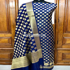 Banarasi Silk Cotton Dress Material(3pcs)-Sitarini-SITBCSDM129