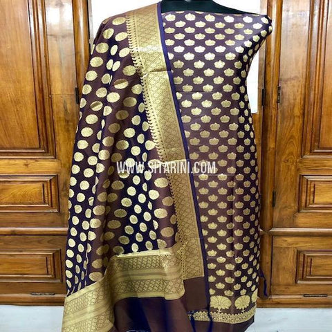 Banarasi Silk Cotton Dress Material(3pcs)-Sitarini-SITBCSDM130