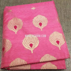 Chanderi Cotton Silk Saree-Pink-Sitarini-SITCSCS110