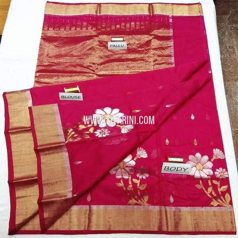 Chanderi Cotton Silk Saree-Sitarini-SITCSCS123