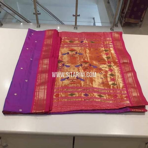 Copy of Paithani Pattu Saree-Violet-Sitarini-SIPSS227