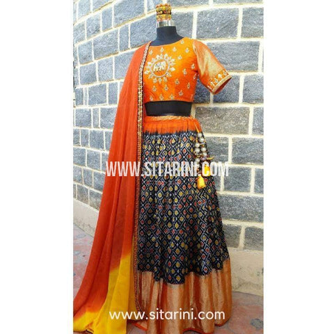 Designer Lehenga-Multi Color and Orange-Sitarini-SDL101