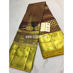 Dharmavaram Silk Saree-Brown-Sitarini-SITDSS111