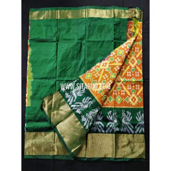 Elder's Ikkat Lehanga-Yellow and Green-Sitarini-PRHIPLE107