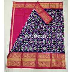Elders Ikkat Lehenga with Kanchi Border-Pattu-Multicolour-Sitarini-SITEIL242