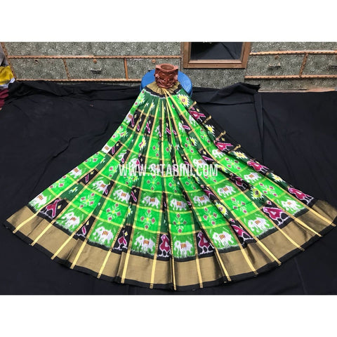 Elder's Ikkat Pattu Lehanga-Multi Colour-Sitarini-PGMHIPLE108