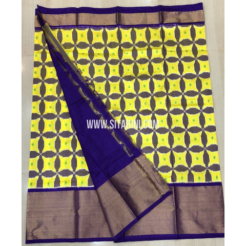 Elder`s Ikkat Pattu Lehenga-Yellow and Purple-Sitarini-PRRHIPLE104