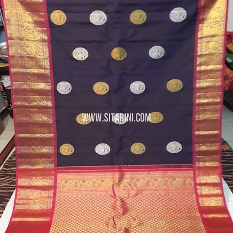Gadwal Pattu Saree-Multicolor-Sitarini-SITGSS243