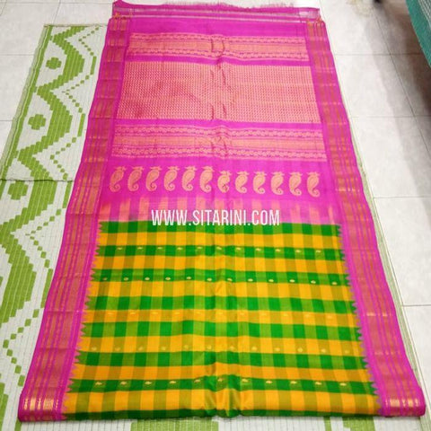 Gadwal Pattu Saree-Multicolor-Sitarini-SITGSS338