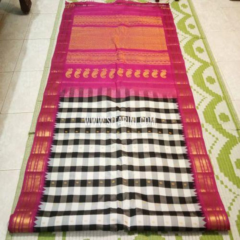 Gadwal Saree-Pattu-Multicolor-Sitarini-SITGSS331