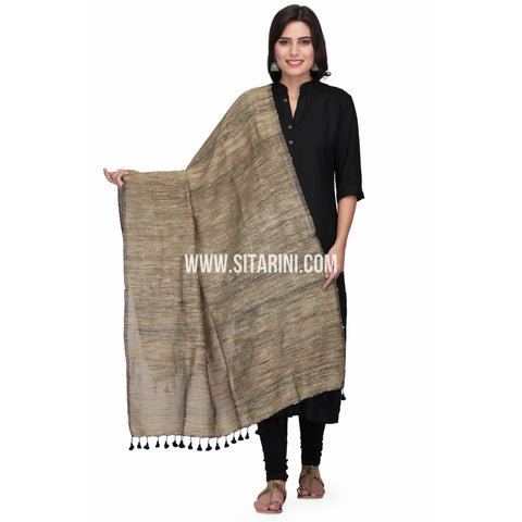 Ghicha Cotton Dupattas-Brown-Sitarini-LWTCD125