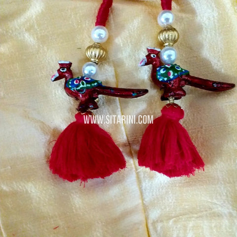 Handmade Tassels / Latkans for Blouse - Set of 2 - Sitarini - TAS101