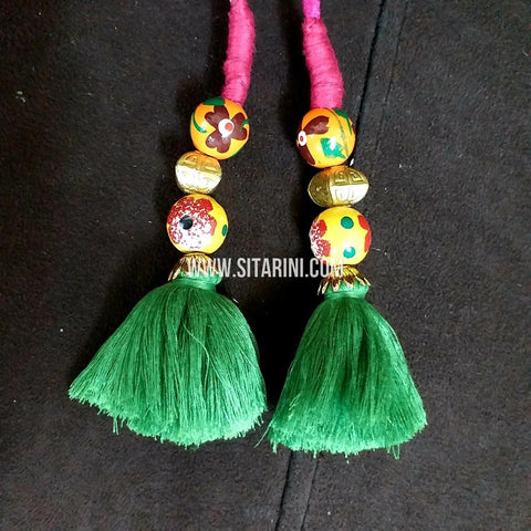Handmade Tassels / Latkans for Blouse - Set of 2 - Sitarini - TAS102