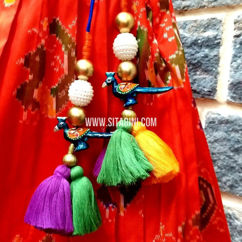 Handmade Tassels / Latkans for Blouse - Set of 2 - Sitarini - TAS103