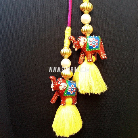 Handmade Tassels / Latkans for Lehenga - Set of 2 - Sitarini - TAS105